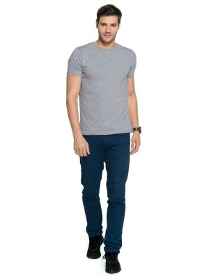 Buy Zorchee Men's Round Neck Half Sleeve Poly-cotton T-shirts - Gray Melange (zo-05pl) online
