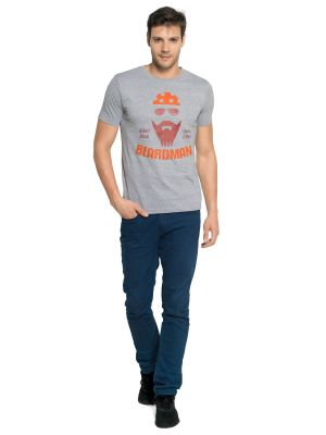 Buy Zorchee Men's Round Neck Half Sleeve Poly-cotton T-shirts - Gray Melange (zo15) online