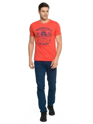 Buy Zorchee Men's Round Neck Half Sleeve Cotton T-shirts - Red (zo19) online