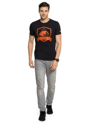 Buy Zorchee Men's Round Neck Half Sleeve Cotton T-shirts - Black (zo1) online