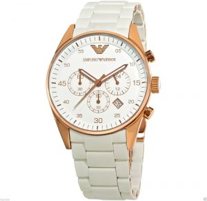 Buy Imported Emporio Armani Ar5920 Ladies White With Rose Gold Sportivo Watch online