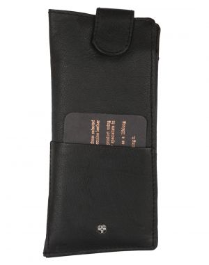Buy Jl Collections Men's & Women's Leather Black Spectacle Case online