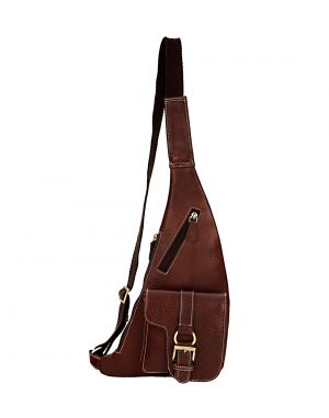 Buy Jl Collections Brown Leather Shoulder Cactus Bag For Unisex online