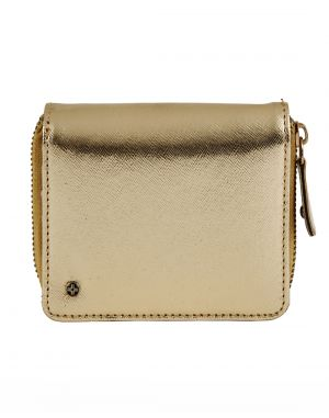 Buy Jl Collections Gold Polyurethane (pu) Ladies Wallet (15 Card Slots) ( Code - Jl_3407_gd) online
