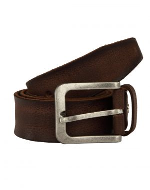 Buy Jl Collections Men's Casual Brown Single Hide Genuine Leather Belt online
