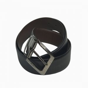 Buy Jl Collections S.Liner Men Formal Black And Brown Genuine Leather Reversible Belt online