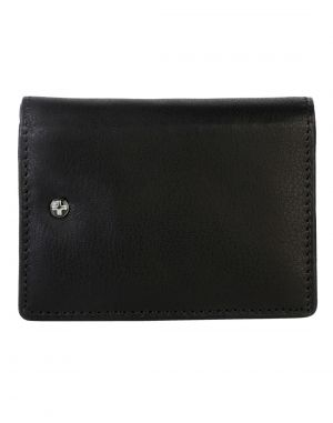 Buy Jl Collections 12 Card Slots Men And Women Black Leather Card Case Wallet online