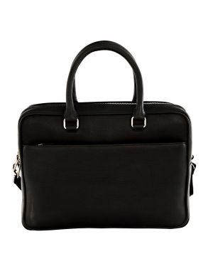 Buy Jl Collections Black Leather Laptop Executive Messenger Bag For Unisex online