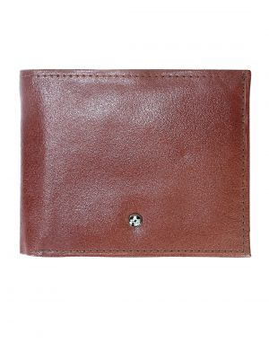 Buy Jl Collections 4 Card Slots Men's Brown Leather Wallet online