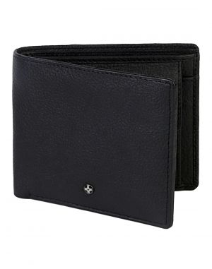 Buy Jl Collections 4 Card Slots Men's Black Leather Wallet online