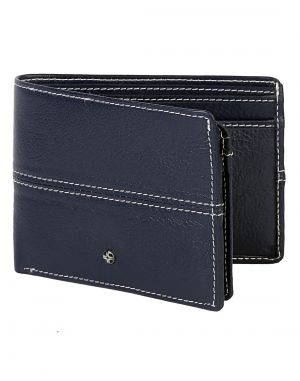 Buy Jl Collections 12 Card Slots Men's Blue Leather Wallet online