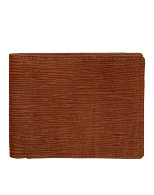 Buy Jl Collections Men's Brown Genuine Leather Wallet (6 Card Slots) online