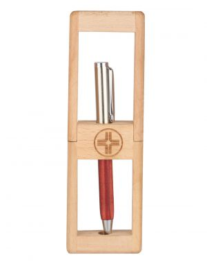 Buy Jl Collections Wooden Brown Pen Holder online