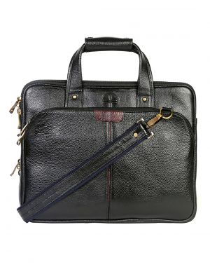 Buy Jl Collections 15.5 Inches Leather Messenger Executive Bag For Laptop Briefcase Satchel Bag online