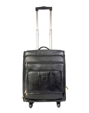 Buy Jl Collections 22 Inches Leather Trolley Bag online