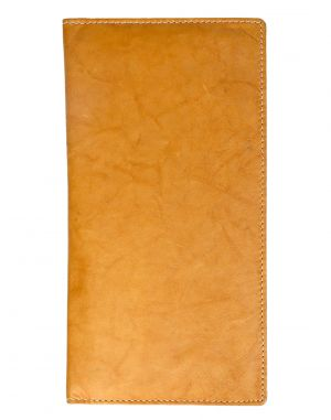 Buy Jl Collections 10 Card Slots Golden And Beige Men's & Women's Leather Travel Wallet online