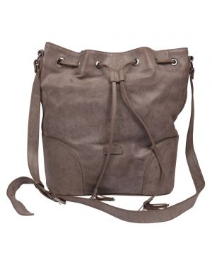 Buy Jl Collections Women's Leather Grey Backpack online