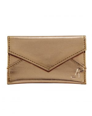 Buy Jl Collections Women's Gold Polyurethane (pu) Credit Card Holder online