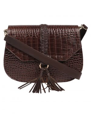 Buy Jl Collections Women's Leather Brown Shoulder Sling Bag online