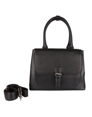 Buy Jl Collections Women's Leather Black Chatai Design Shoulder Bag online