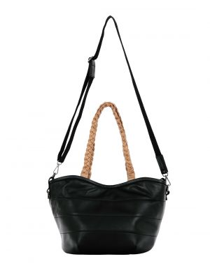 Buy JL Collections Women's Black Genuine Leather Shoulder Handbag online
