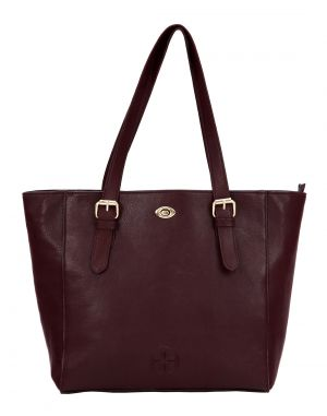 Buy JL Collections Women's Brown Genuine Leather Shoulder Handbag online