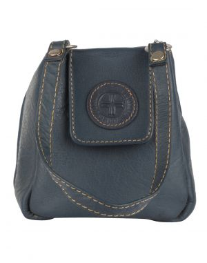Buy Jl Collections Women's Leather Navy Blue Vanity Pouch online