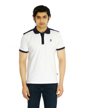 Buy Eupli Cotton Polo Neck White Men's T Shirts online