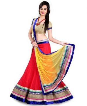 Buy Jomso Red Color Designer Lehenga Choli online