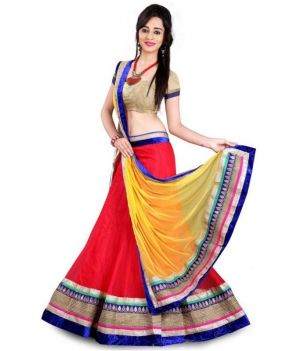 Buy Bansi Fashion Designer Red Lehnga Choli online