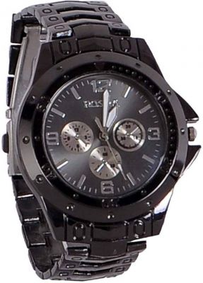 Buy Watches For - Male Round Stainless Steel Analogue Black Dial And Black Band-rosra online