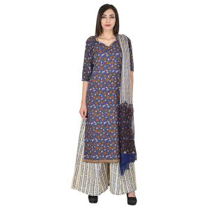 Buy Aaditri Clothing Ethnic Dress Material Cotton Multi-coloured Women(4720174) online