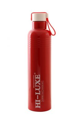 Buy Hi Luxe Thermo Steel Premium Steel 750 Ml Vaccum Flask Bottle - Cruiser Red online