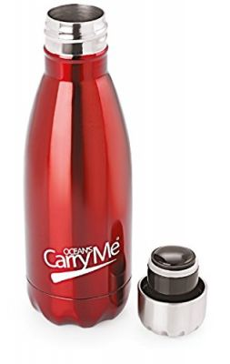 Buy Ocean's Carryme Aqua Stainless Steel Hot & Cold Bottle, 350 Ml, Red online
