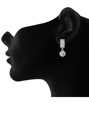 Buy 3s Fashion Trends White Stone Drop Style Earrings 3s0005 online