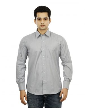 Buy Grey Color Mens Formal Regular Fit Shirts online