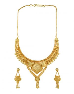 Buy 3s Fashion Trends Gold Plated Necklace Set 3s0001 online