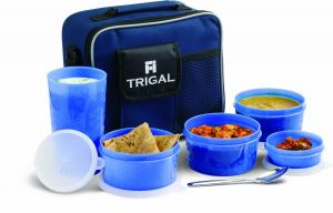 Buy Trigal Combi Delight Lunch Box With Bag & Spoon online