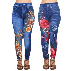 7df6c5fdf2cd0 Buy Ziva Fashion Girls/womens Blue Poly Cotton Printed Ankle Length Slim  Fit Leggings/jeggings (pack Of 2) ( Code - J4-j6 ) Online   Best Prices in  India: ...
