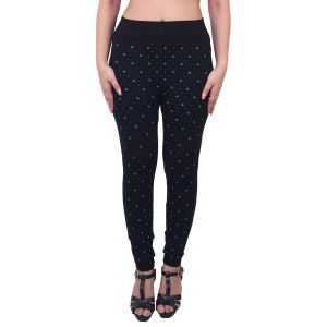 Buy Ziva Fashion Black Floral Print Free Size Jeggings - ( J6013-fr ) online