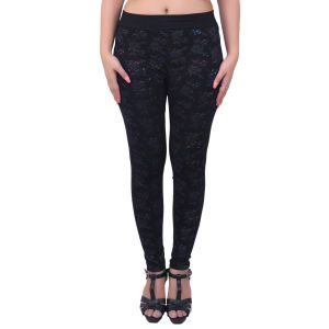 Buy Ziva Fashion Black Floral Free Size Jeggings - ( J72-fr ) online