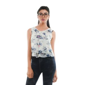 Buy Ziva Fashion Women's Floral Layered Top online