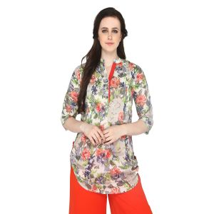 Buy P-nut Women's Rayon Floral Print Casual Top Om331 online