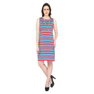 Buy P-nut Women's Sleeveless Striped Dress Om346a online