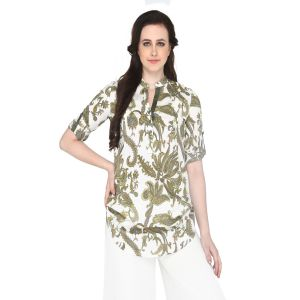 Buy P-nut Women's Cotton Paisley Casual Top Om359 online