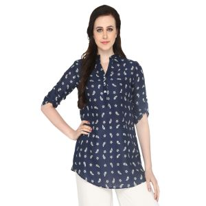 Buy P-nut Women's Cotton Paisley Casual Top Om417a online