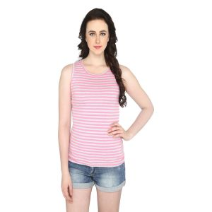 Buy P-nut Women's Round Neck Striped Casual T-shirt Om418a online
