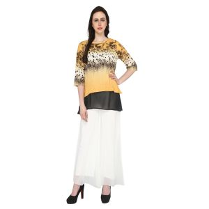 Buy P-nut Women's Polyester Printed Casual Top Om503a online
