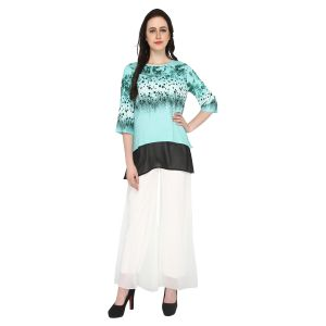 Buy P-nut Women's Polyester Printed Casual Top Om503b online