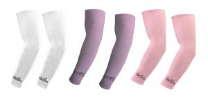 Buy Hi Cool Arm Sleeves For Uv Sun Protection And Sports(white, Purple, Pink) - 3 Pairs online